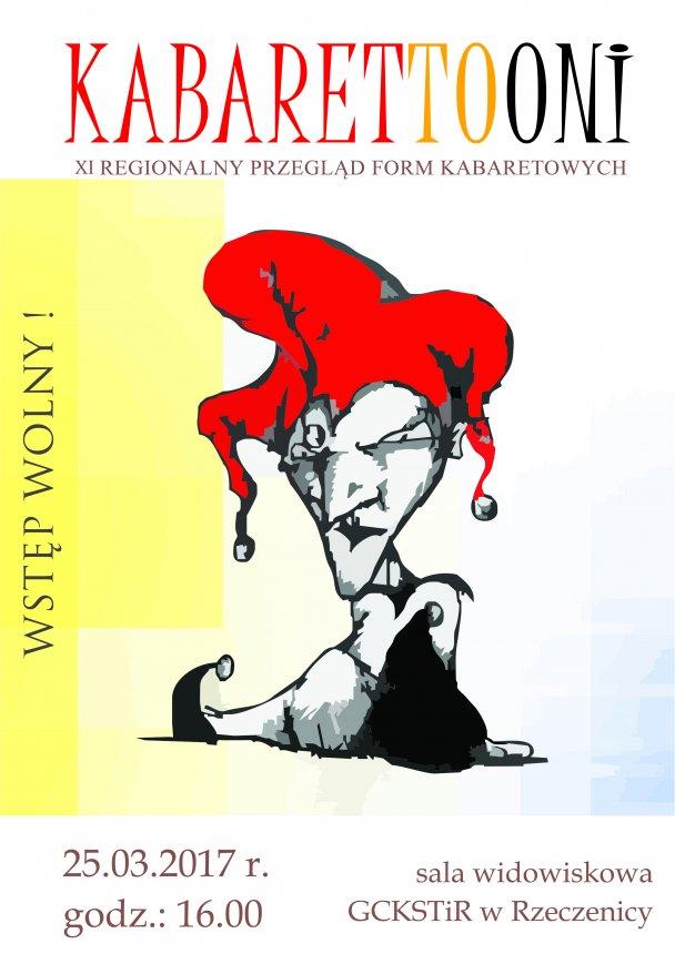 Plakat informacyjny - Kabarettooni